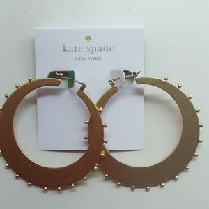 Kate Spade New Gold Hoops with Nub Earrings